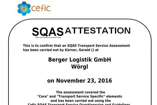 Zertifizierung SQAS